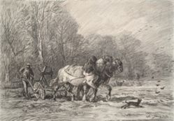 A Peasant with a Horse Drawn Plough
