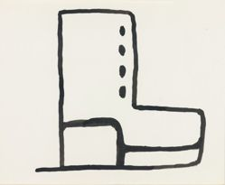 Untitled [Square Boot], from Suite of 21 Drawings