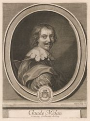 Gérard Edelinck, Claude Melan, from the book Les hommes illustres . . . , vol. II, by Charles Perrault
