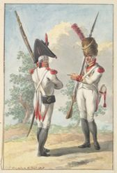 Two Soldiers of the Dutch Royal Grenadier Guard