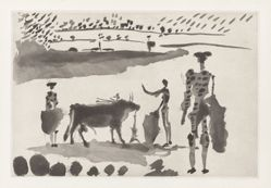 Después de la estocada, el torero señala la muerte del toro (After the Estocada, the Bullfighter Signals the Death of the Bull), from the series La tauromaquia