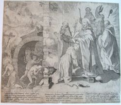 Plate 2, from the series, Life and Miracles of Saint Catherine of Siena