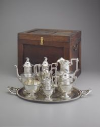 """Etruscan"" Tea Service with Wooden Box"