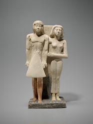 Limestone Group of Ikhui and his Wife Bebi