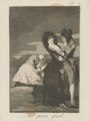 Tal para qual. (Two of a Kind.), pl. 5 from the series Los caprichos