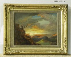 Study of Sunset (a) [recto]; Landscape with Figure (b) [verso]