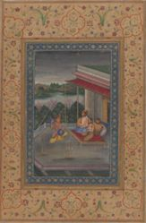 Musical Mode Raga Dipak, from a dispersed Ragamala manuscript