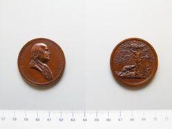 """Bronze """"Sansom medal"""" of Benjamin Franklin"""