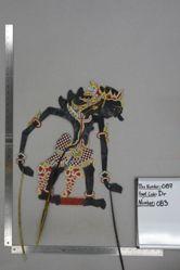 Shadow Puppet (Wayang Kulit) of Gagak Bongkol, from the set Kyai Drajat