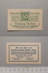 50 Heller from Lend, Notgeld