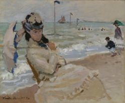 Camille on the Beach in Trouville