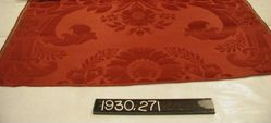 Reproduction of an 18 cent. fancy satin (damask)