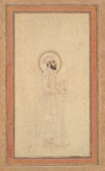 Unfinished Portrait of a Mughal Emperor, possibly Bahadur Shah