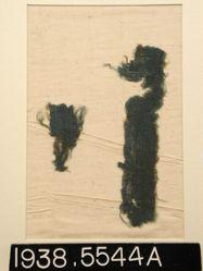 Textile, plain green tapestry fragment
