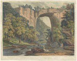 View of the Natural Bridge, Virginia