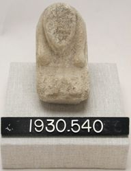 Lower Part of Seated Figurine on Base