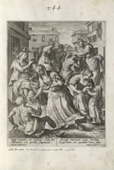 The Wise Virgins Administering Acts of Mercy, pl. 2 of 8 from the series Parable of the Five Wise and Foolish Virgins
