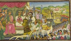 The Queen of Sheba with King Solomon and Tribute Bearers