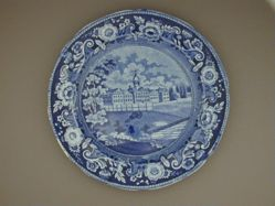 Plate with a view of New York, Almshouse