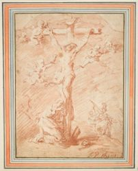 Christ on the Cross with St. Magdalene