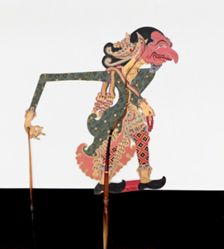 Shadow Puppet (Wayang Kulit) of Durna, from the consecrated set Kyai Nugroho