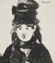 Berthe Morisot (en noir) [Berthe Morisot (In Black)]