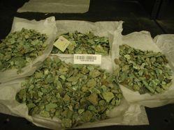 Box of bronze fragments