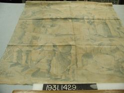"""Length of printed linen, """"The Seven Ages of Man"""""""