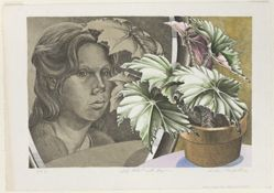 Self-Portrait with Begonia