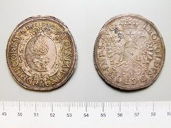1 Thaler of Leopold I, Holy Roman Emperor from Augsburg