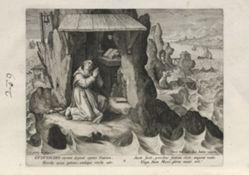 Gudwaldus, number 9 of 25 numbered plates from Trophaeum Vitae Solitariae (Male Hermits)