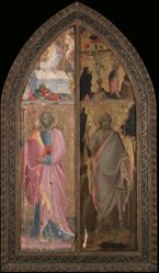 Saint James Major and Resurrection, Saint John the Baptist and Crucifixion