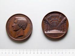 Bronze Medal from Belgium Honoring Leopold II, Duke of Brabant, Philharmonic Society