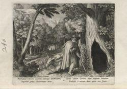 Geroldus, number 16 of 25 numbered plates from Trophaeum Vitae Solitariae (Male Hermits)
