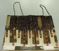 Bag of cotton embroidered in silk