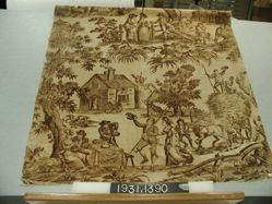 """Length of printed linen, """"The Haymakers"""""""