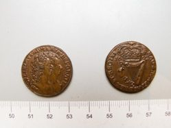 Half Penny of King WIlliam and Queen Mary from Ireland