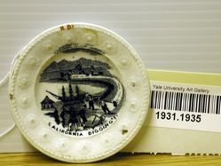 "Cup Plate, ""California Digging's"""