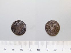 Half groat of Henry VIII from Canterbury