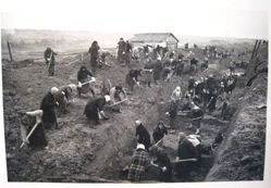 Digging Anti-Tank Trenches Near Moscow, from The Great Patriotic War, Vol. II