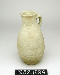 Large lemon-shaped vase
