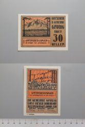 30 Heller from Grodig, Notgeld