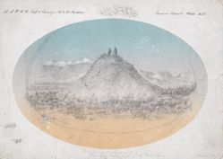 """Hot Spring Mound in the """"Deer Lodge"""" Prairie of the Rocky Mountains"""