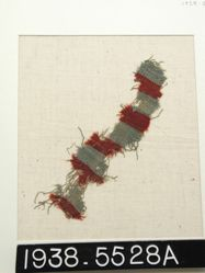 Fragment with red and blue bands