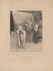 La femme du peintre, from the series Scènes de la vie intime