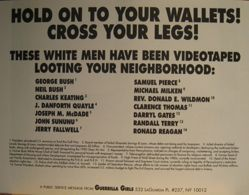 Hold on to your wallets! Cross your legs!, from the Guerrilla Girls' Compleat 1985-2008