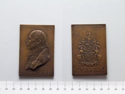 Bronze Plaquette from Belgium Commemorating Campaigns of Lt. Gl. Baron Jacques