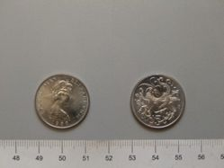 Five Pence of Queen Elizabeth II from Isle of Man