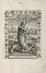 Saint Margaret, 1 of 25 plates in the series Martyrologium Sanctarum Virginum (Female Martyr Saints)