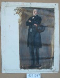Figure Study of Andrew Gregg Curtin, for The Apotheosis of Pennsylvania, House of Representatives Chamber, Pennsylvania State Capitol, Harrisburg